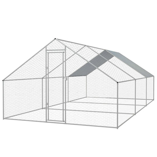 Picture of Outdoor Chicken Cage Galvanized Steel 910x198x66