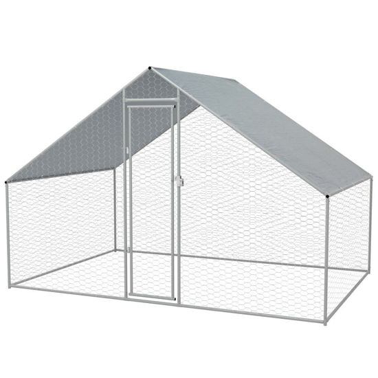 Picture of Outdoor Chicken Cage Galvanized Steel 910x66x66