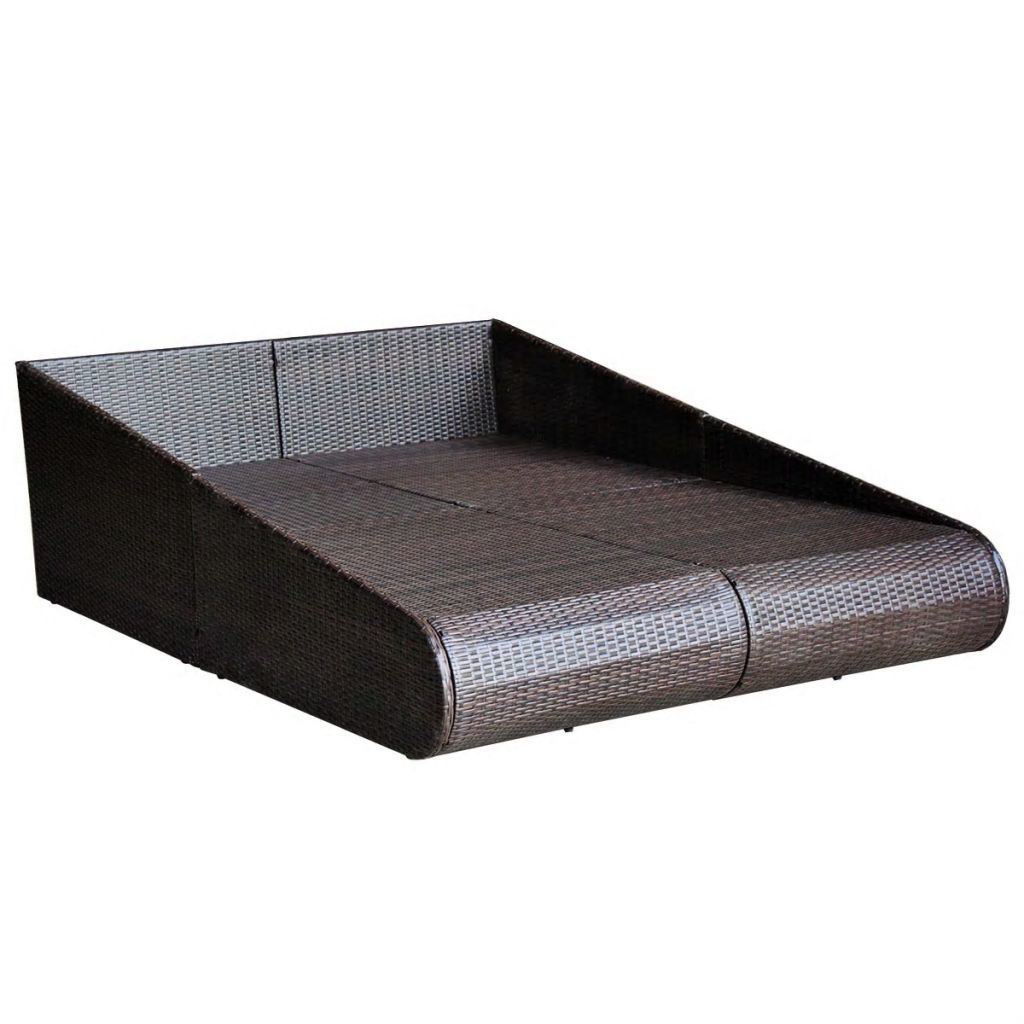 "Picture of Outdoor Daybed 79"" - Poly Rattan - Brown"