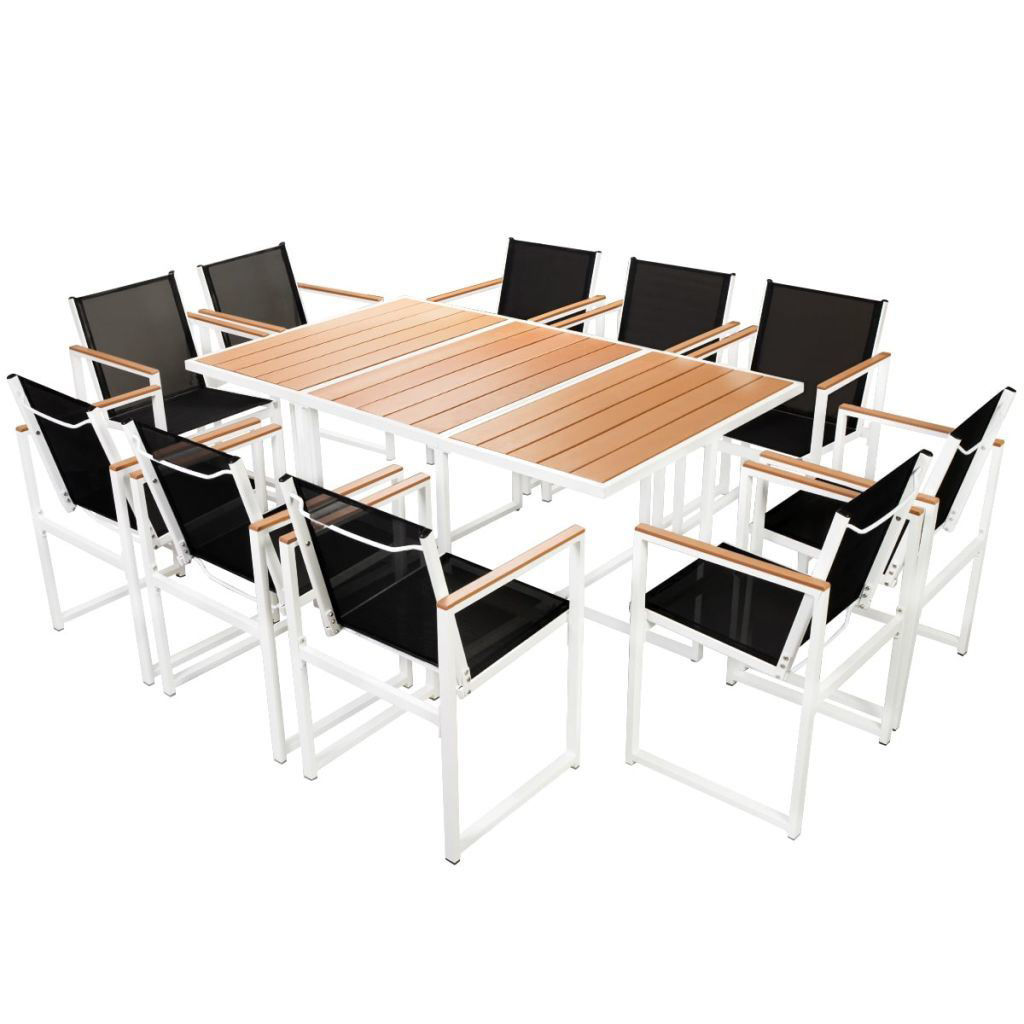 Picture of Outdoor Dining Set Aluminum 11pc - WPC Brown
