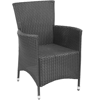 Picture of Outdoor Dining Set with Cushions Poly Rattan Wicker - 11 pcs Black