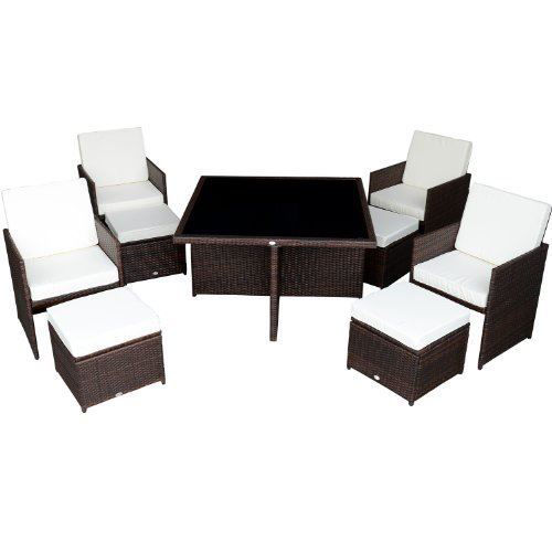 Picture of Outdoor Dining Table Set Rattan Wicker - 9pc