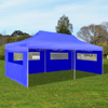 Picture of Outdoor Foldable Pop-up Party Tent 10' x 20' - Blue