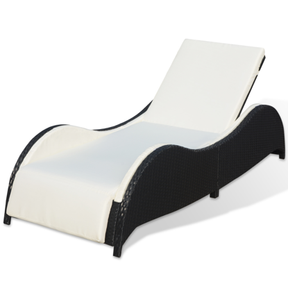 Picture of Outdoor Furniture Lounger - Black
