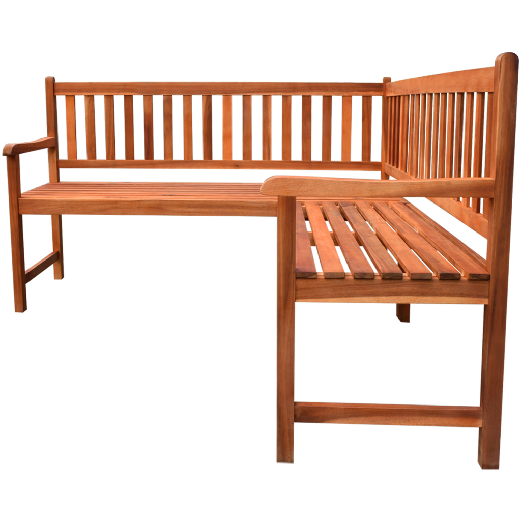 Picture of Outdoor Furniture Corner Bench - Acacia Wood