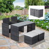 Picture of Outdoor Furniture Dining Set Rattan Wicker - 5 pcs Gray