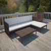 Picture of Outdoor Furniture Lounge Set 3-Seat Sofa Poly Rattan - Brown