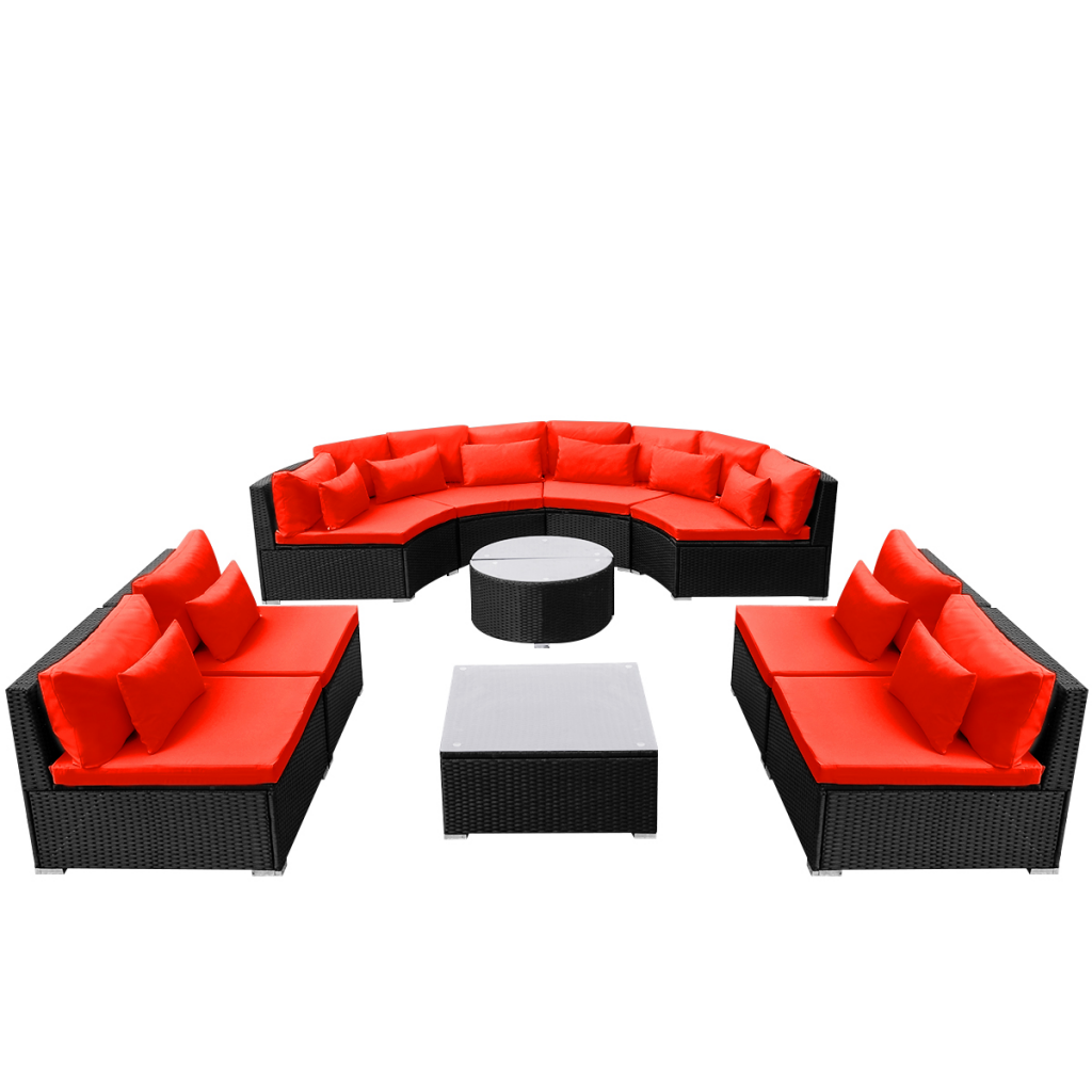 Picture of Outdoor Furniture Sofa Seating Poly Rattan - Red