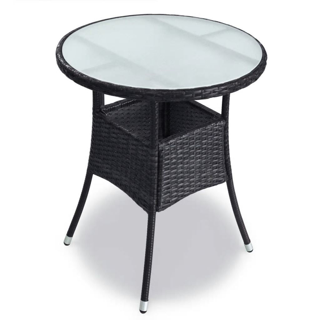 Picture of Outdoor Garden Dining Set - Poly Rattan - Black