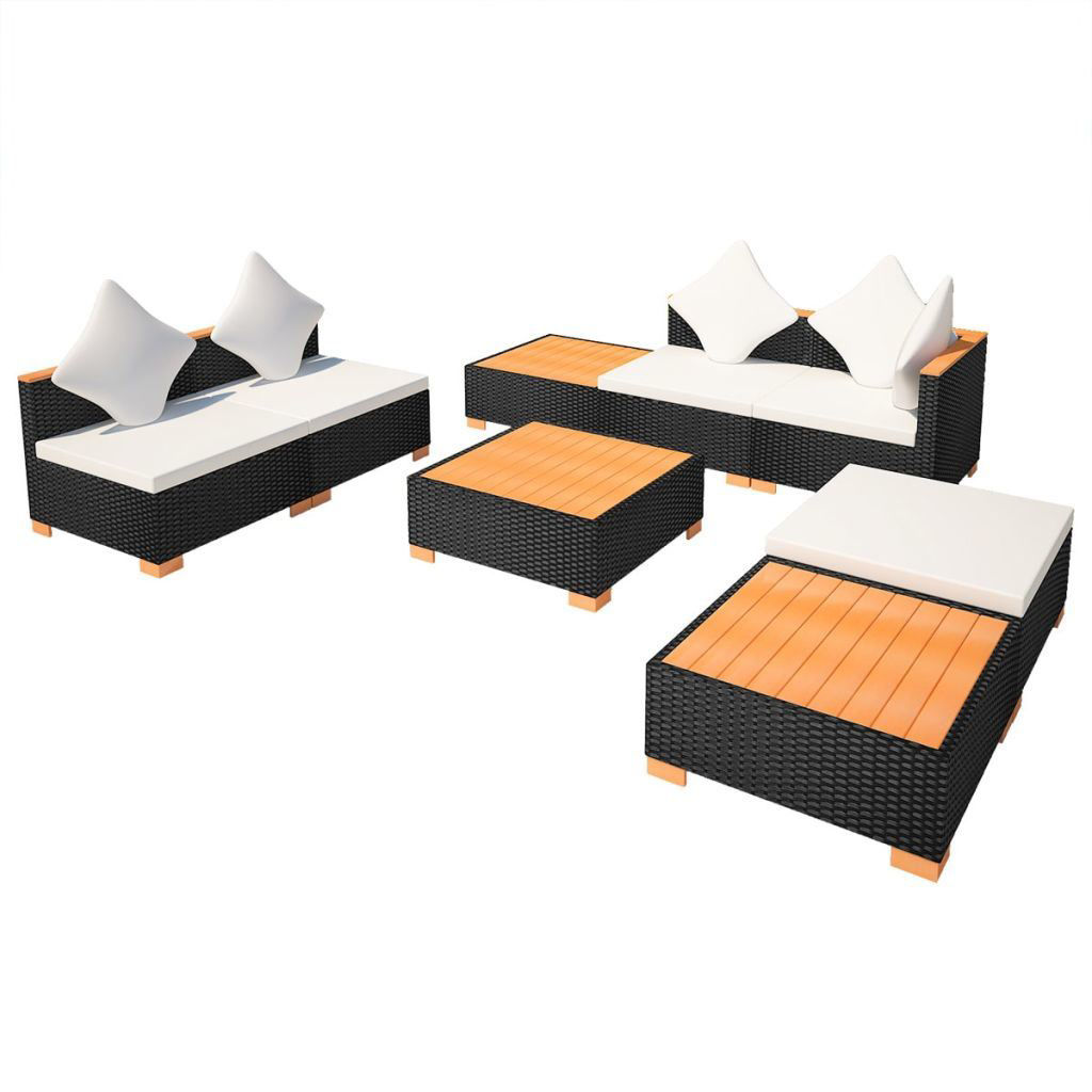 Picture of Outdoor Furniture Lounge Set - Black