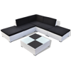 Picture of Outdoor Garden Lounge Set Poly Rattan - White 15 Piece