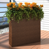 Picture of Outdoor Garden Rectangle Rattan Planter Set - Brown