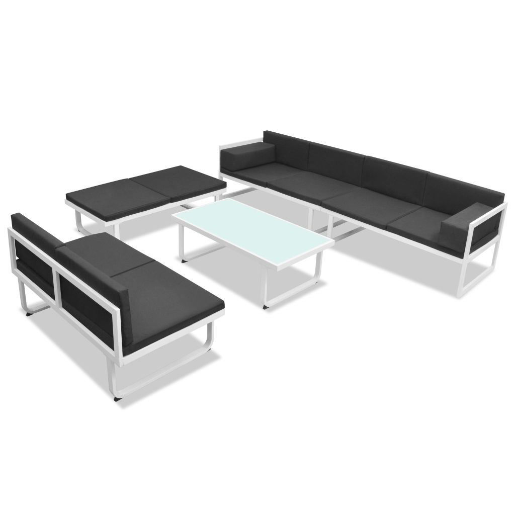 Picture of Outdoor Garden Sofa Set - Textiel Aluminum - Black and White