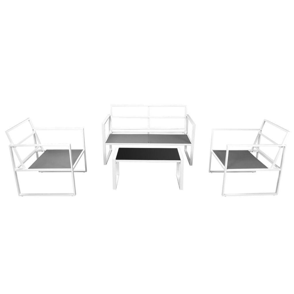 Picture of Outdoor Garden Sofa Set - Textilene - White