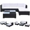 Picture of Outdoor Garden Sofa Set Black Poly Rattan - 14 Piece
