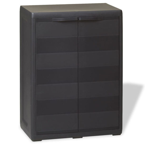 Picture of Outdoor Garden Storage Cabinet with 1 Shelf - Black