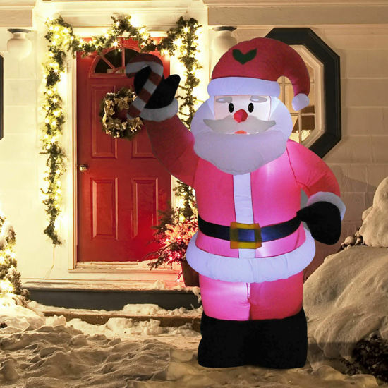 Picture of Outdoor Inflatable Christmas Santa Claus Airblown 8 ft