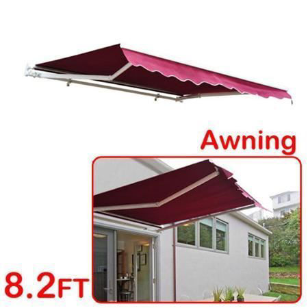 Picture of Outdoor Manual Awning 8'x7' - Wine Red