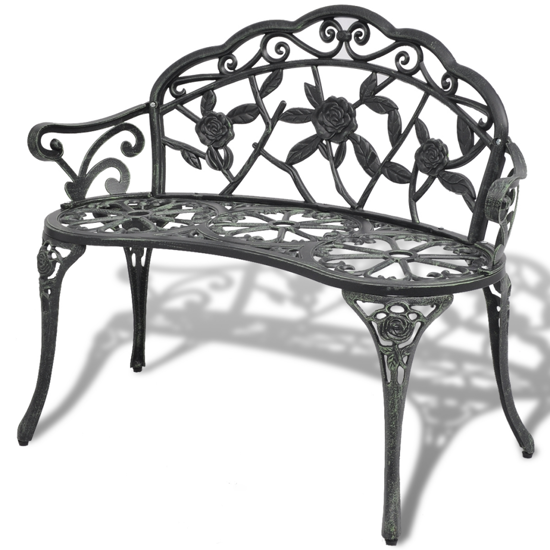 Picture of Outdoor Patio Bench Cast Aluminum - Green