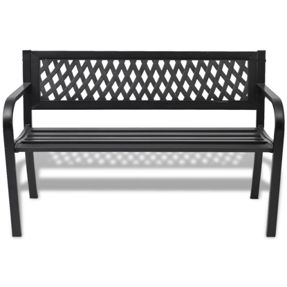Picture of Outdoor Patio Bench Steel - Black