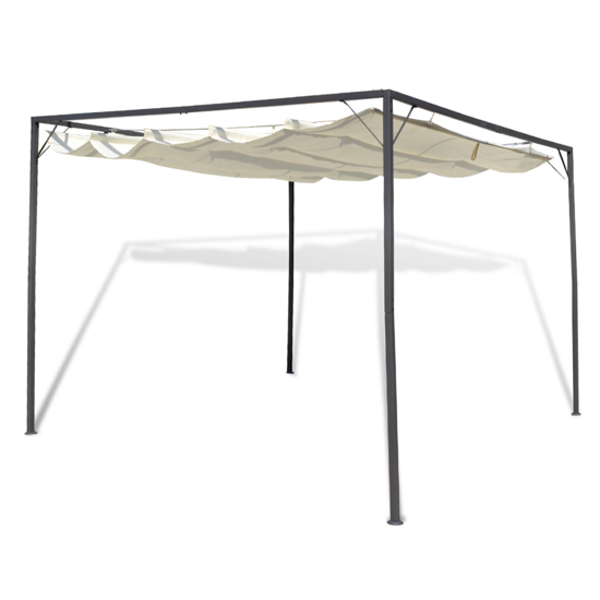Picture of Outdoor Patio Gazebo with Retractable Roof Canopy