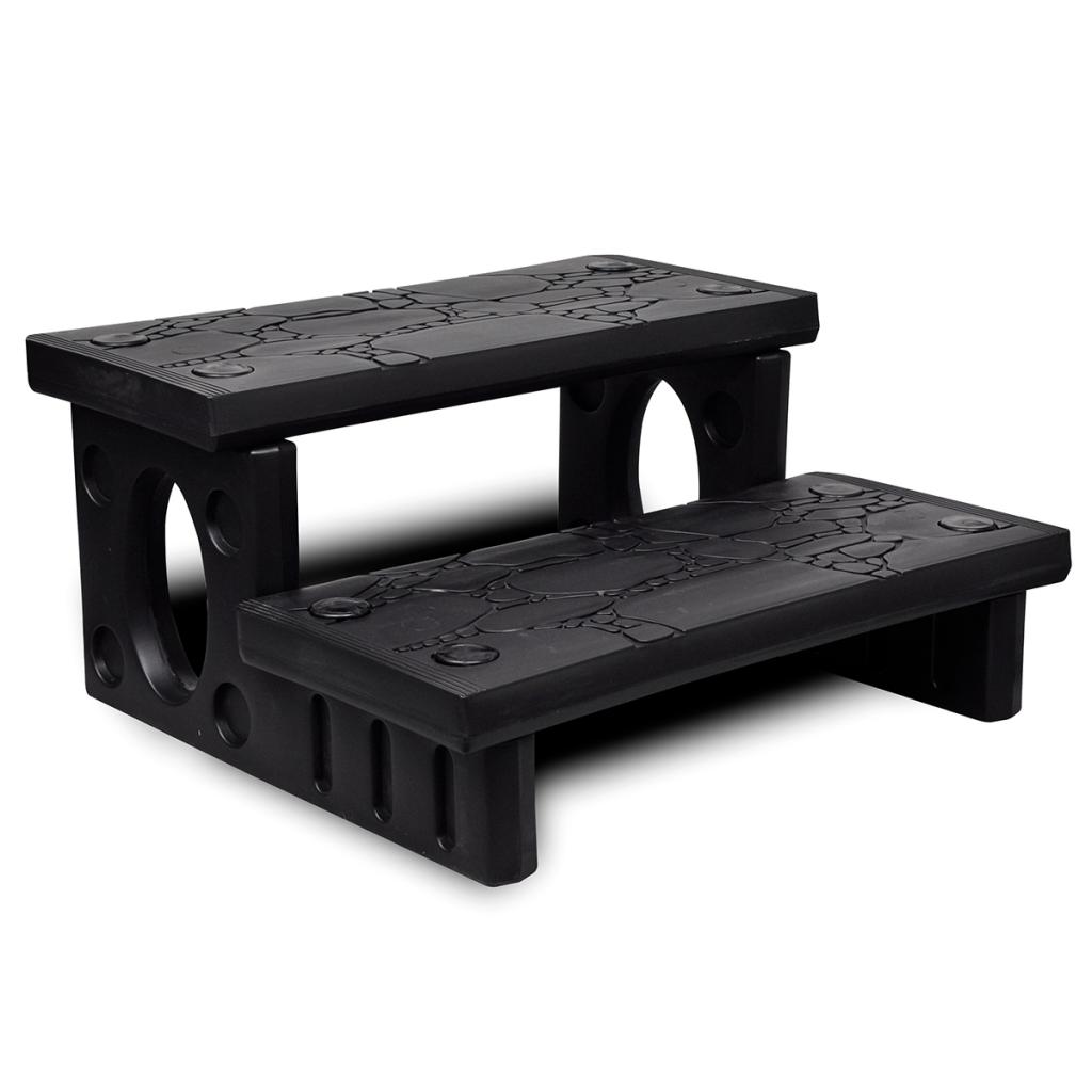 Picture of Outdoor Patio Spa Steps Non-Slip Plastic Multipurpose - Black