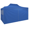 Picture of Outdoor Pop-Up Tent Gazebo Marquee with 4 Side Walls 9.8'x14.8' - Blue