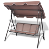 Picture of Outdoor Swing 3-Seater Chair Hammock - Coffee