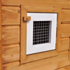 "Picture of Outdoor Wooden 76"" Double Chicken Coop with Run"