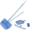 Picture of Pool Cleaning Set Brush 2 Leaf Skimmers 1 Telescopic Pole