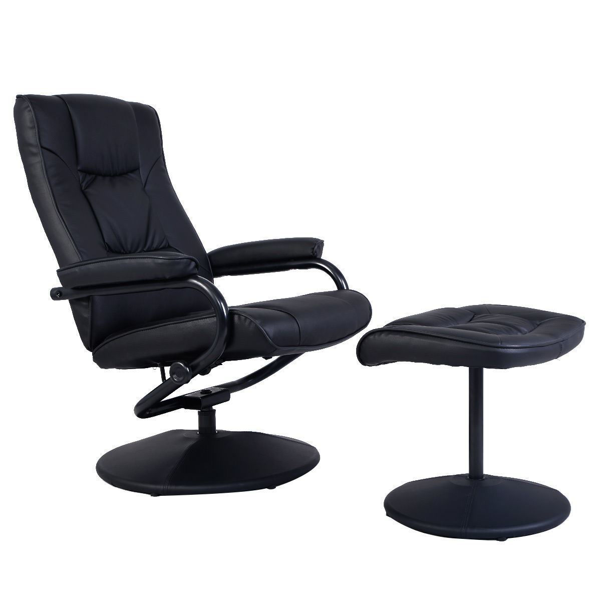 Picture of Recliner Chair Swivel Armchair Lounge Seat with Footrest Ottoman