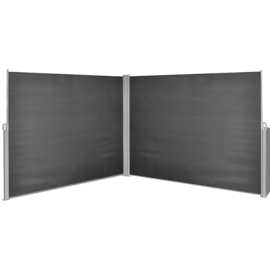 "Picture of Retractable Side Awning 71""x236"" Black"