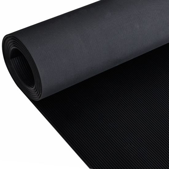 Picture of Rubber Floor Mat Anti-Slip 16' x 3' Fine Ribbed