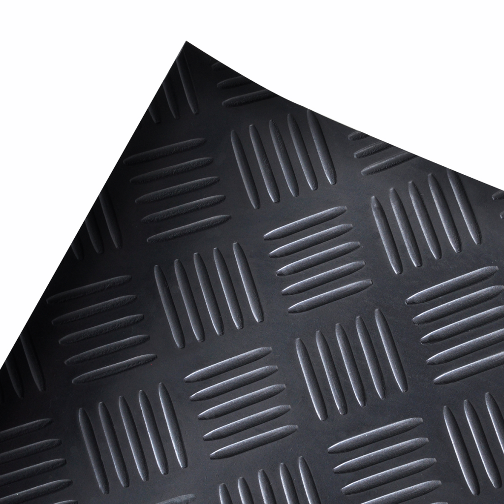 Picture of Rubber Floor Mat Anti-Slip 7' x 3' Checker Plate