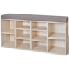 Picture of Shoe Storage Bench 10 Compartments Oak Color