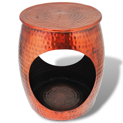 Picture of Side Table / Hocker Barrel Shape - Copper Brown