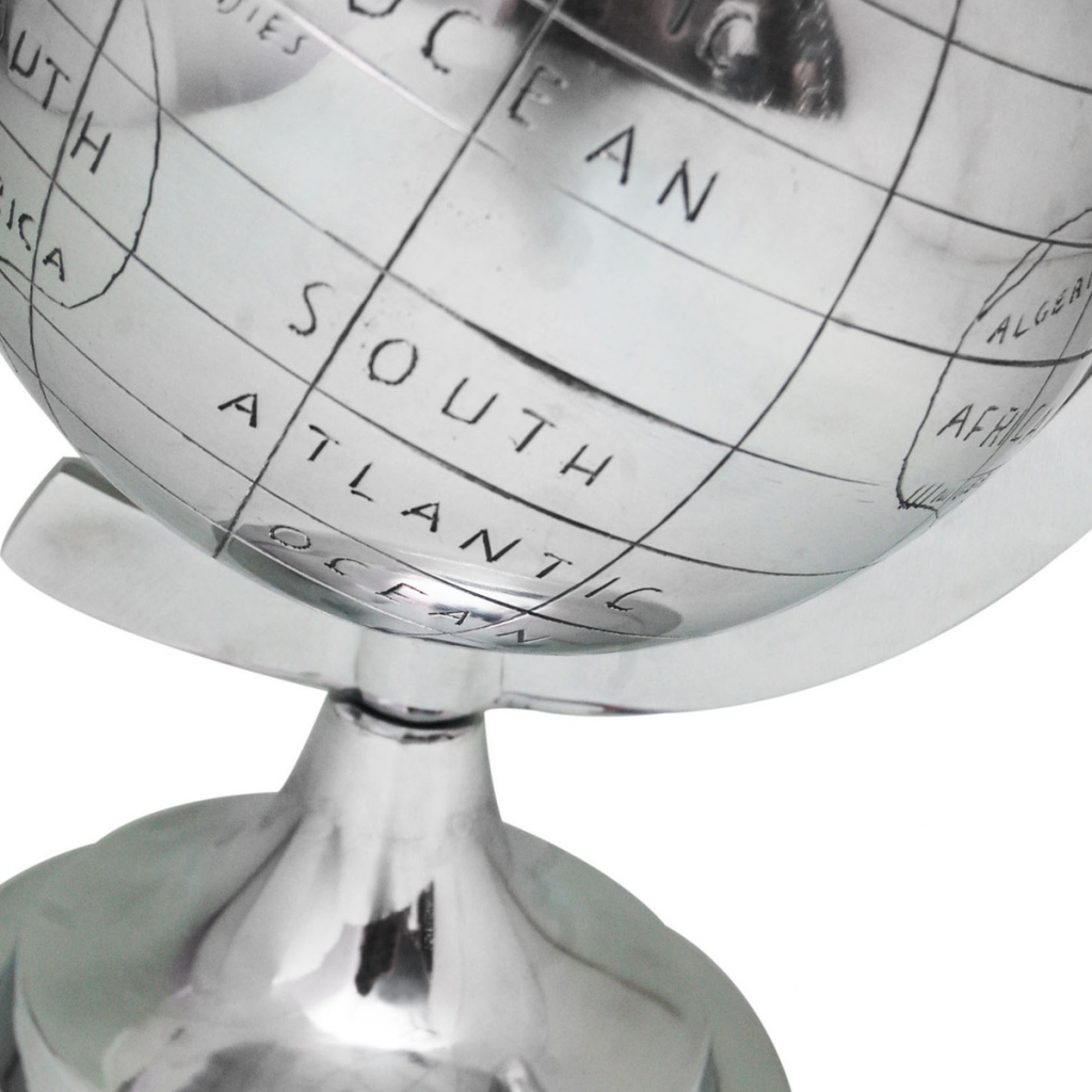 Picture of Silver Globe with Stand - 13""