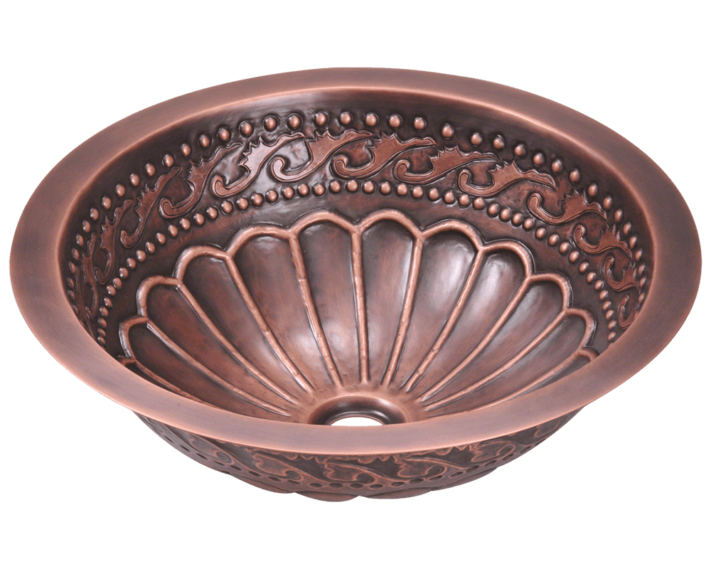 Picture of Single Bowl Copper Bathroom Sink