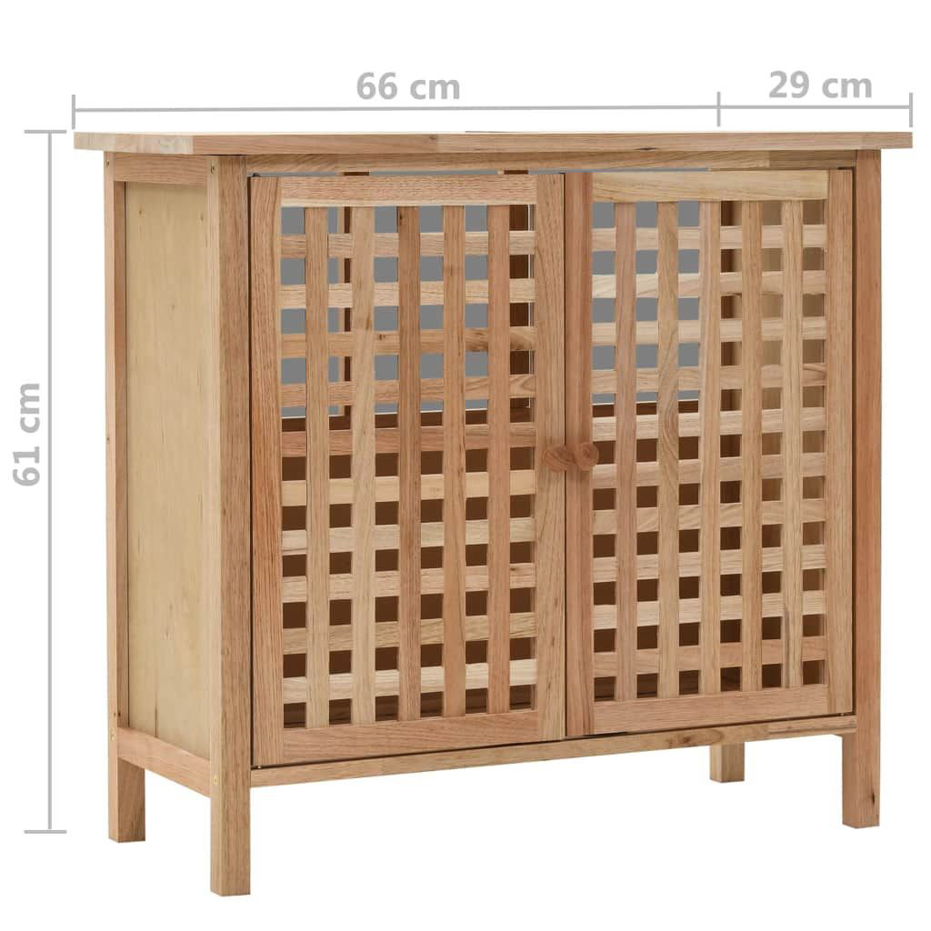 """Picture of Sink Cabinet Solid Walnut Wood 25.9""""x11.4""""x24"""""""