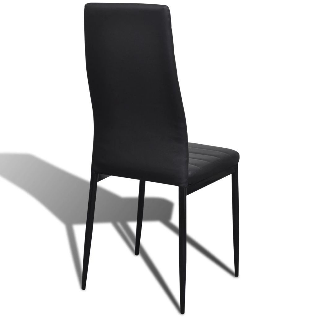 Picture of Dining Chairs - 6 pc Black