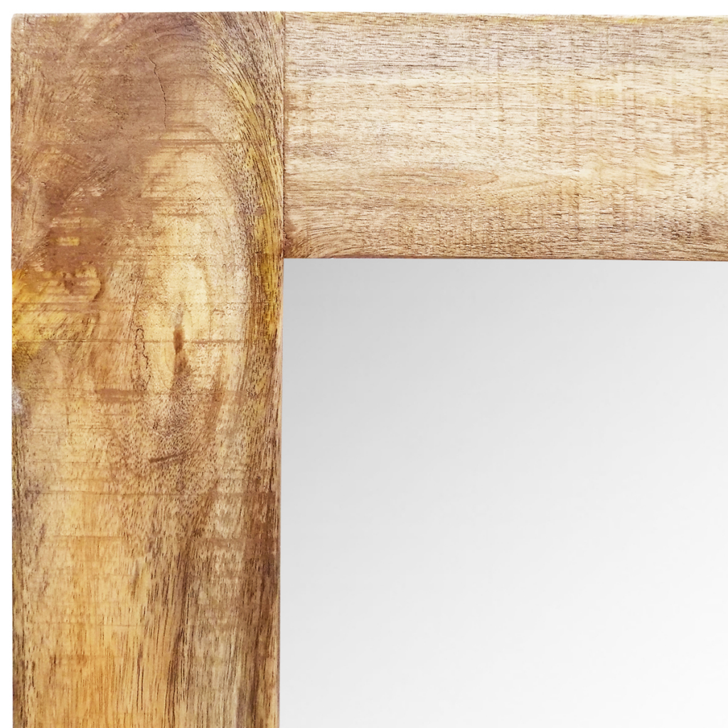 """Picture of Solid Wood Framed Rectangle Wall Mirror 47.2""""x23.6"""""""