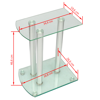 Picture of Speaker Stands 2 pcs - Transparent Glass