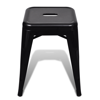 Picture of Stackable Small Metal Stool - Black 2 pcs