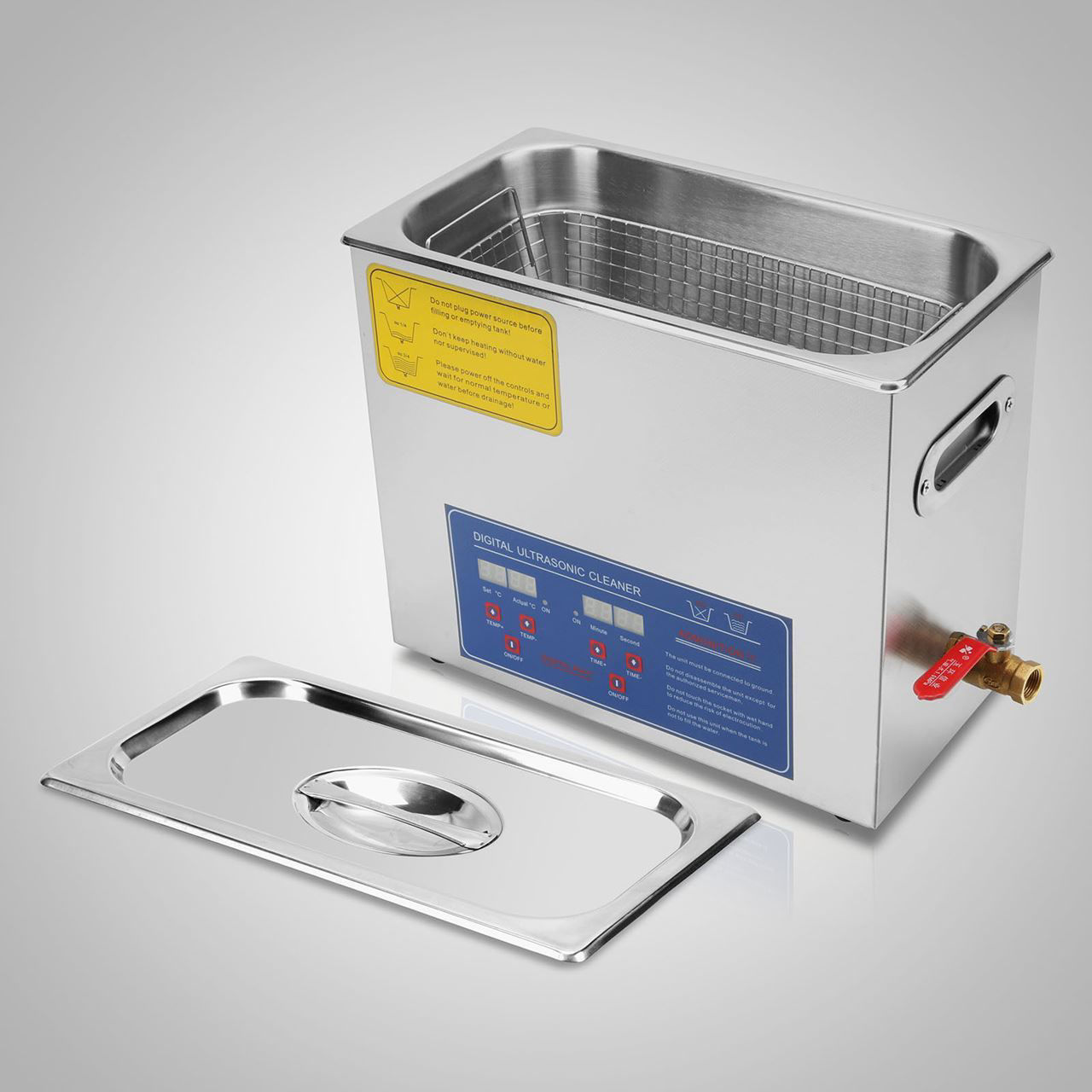 Picture of Stainless Steel 6.5 L Liter Industry Heated Ultrasonic Cleaner Heater w/Timer
