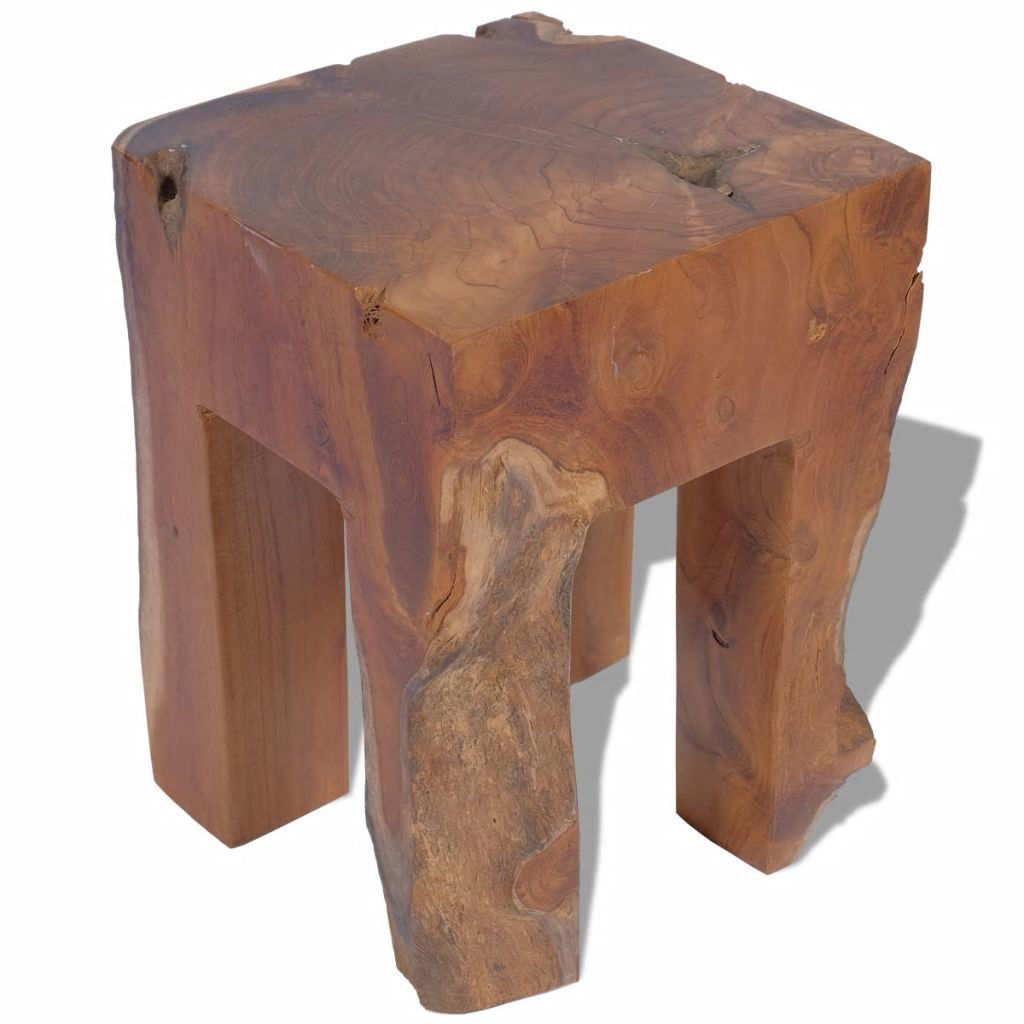 "Picture of Stool Solid Teak 11.8""x11.8""x15.7"""
