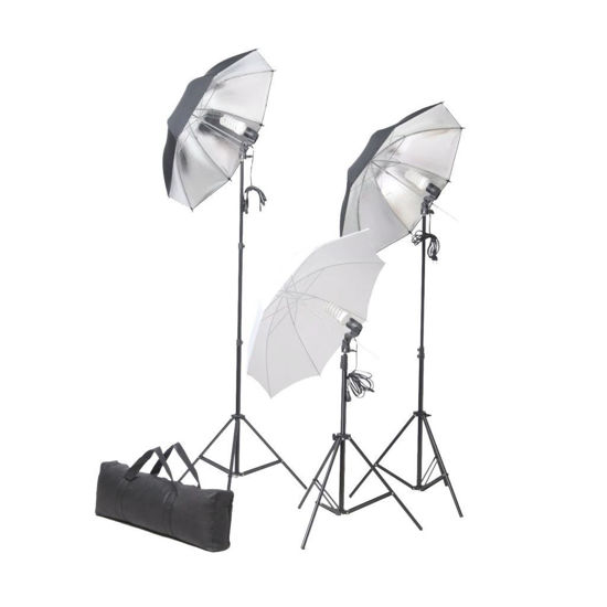 Picture of Studio Lighting Set 24 Watt Tripods And Umbrellas