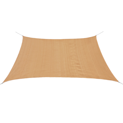 Picture of Sunshade Sail HDPE Square 11.8'x11.8' Beige