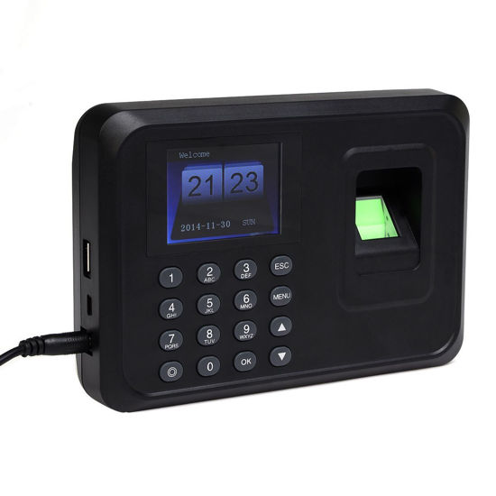 Picture of Time Recorder Clock Employee Attendance Fingerprint Password USB TCP/IP