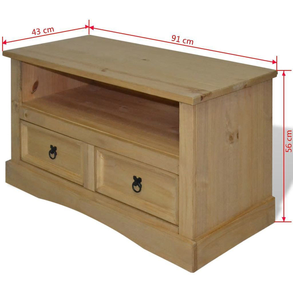 "Picture of TV Cabinet 35"" - Mexican Pine Corona Range"