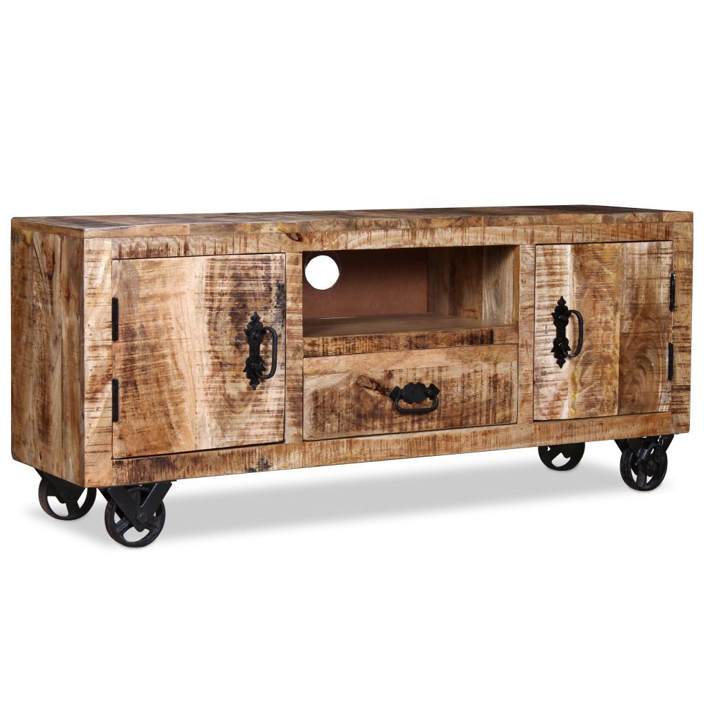 "Picture of TV Cabinet 47"" - Rough Mango Wood"